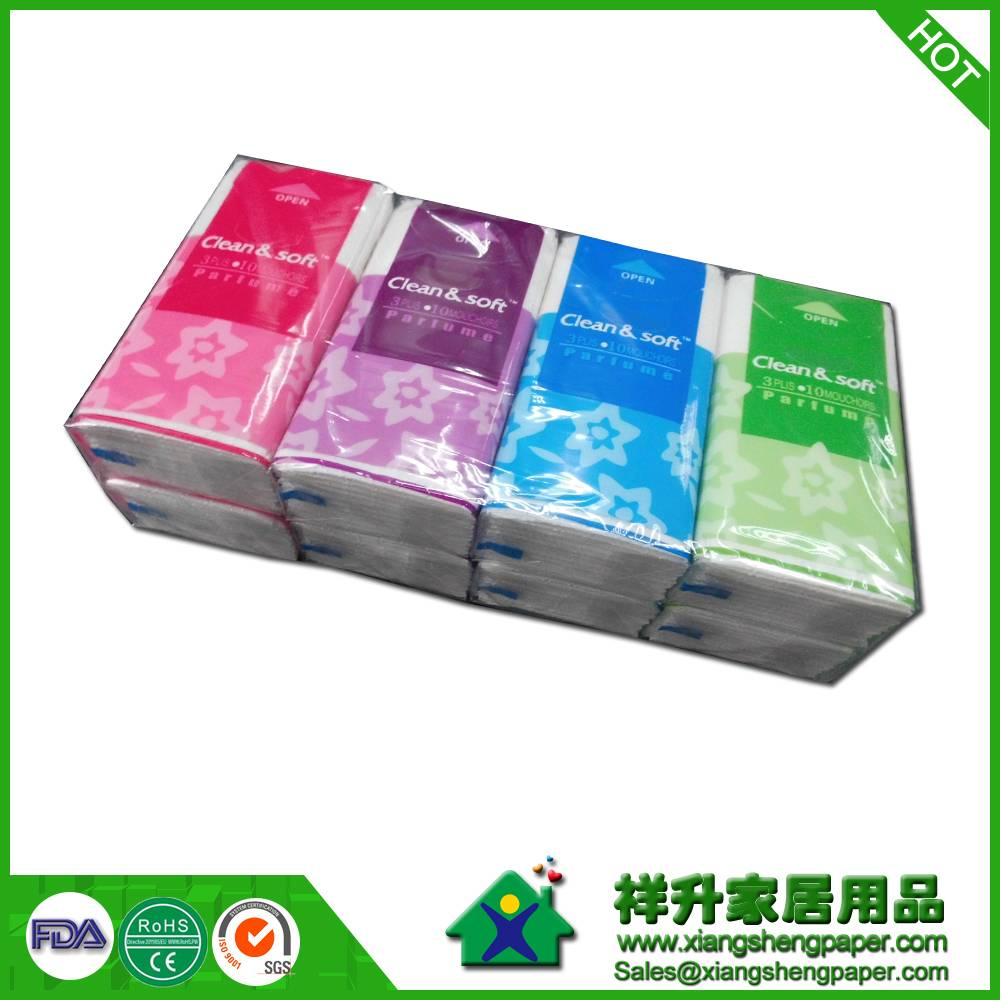 205x205mm 3ply 10sheets/pocket  pocket tissue