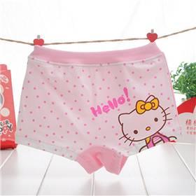 Hot Sale Girl Underwear Panties Boxer Hello Kitty Children Pants Kids Cotton Cartoon Underwear