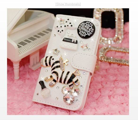 Samsung phone case, diamond-encrusted Pearl flower Mobile phone cases