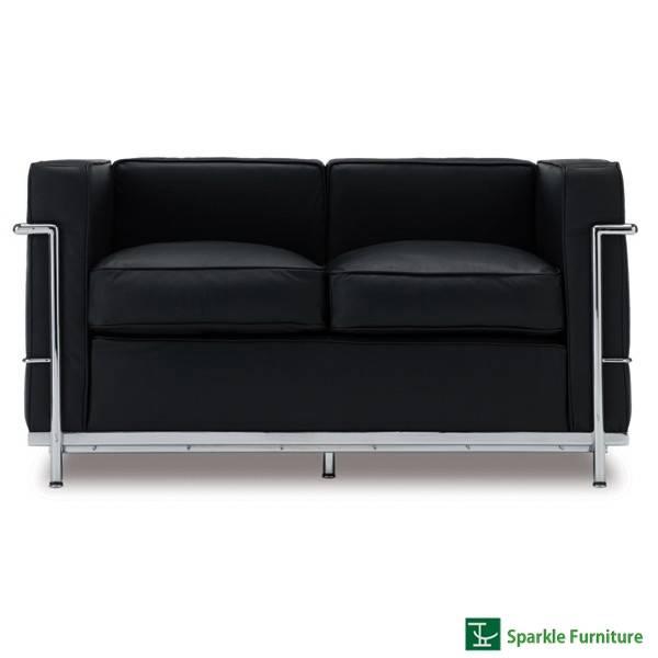 Le Corbusier LC2 sofa (2 seater)
