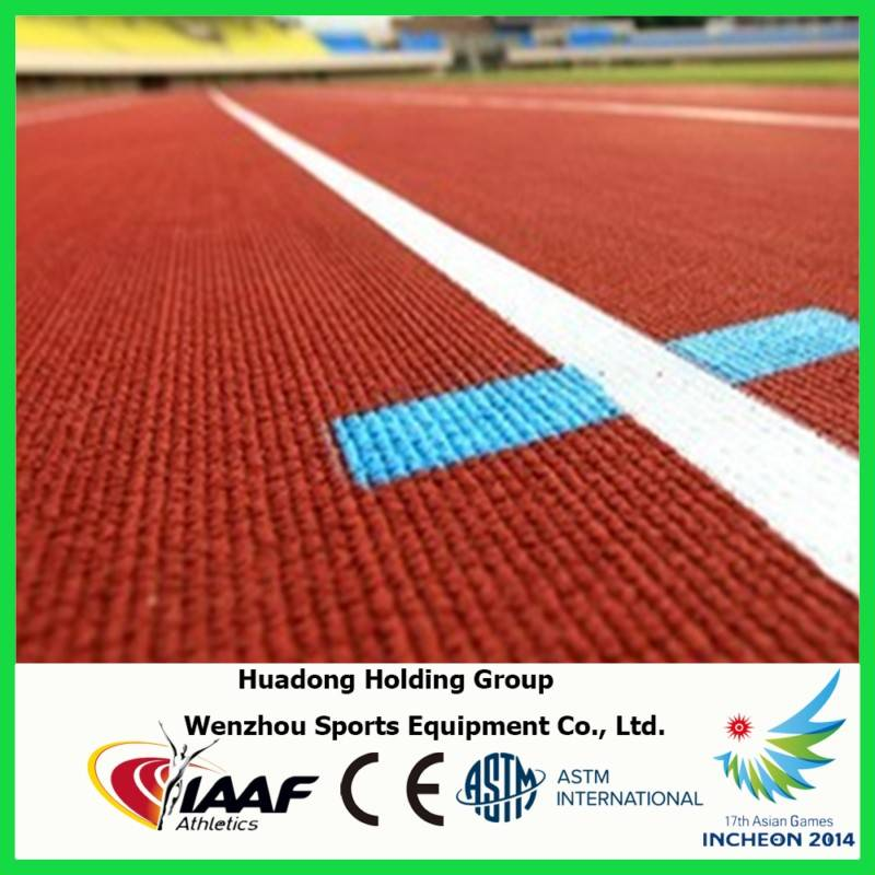 Rubber running track surface indoor/outdoor waterproof track flooring