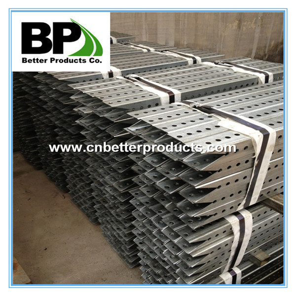 galvanized steel square post with cut end