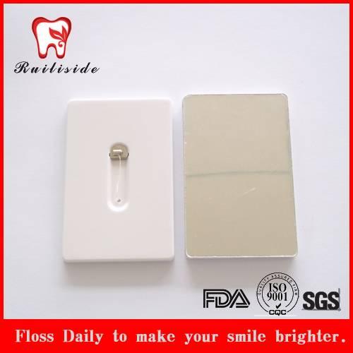 mirror credit card dental floss