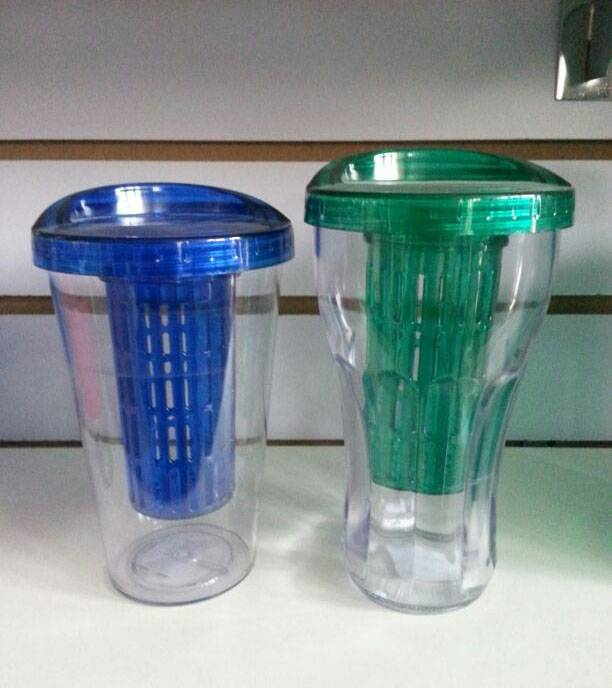 5% disount Fountain soda plastic tumblers with filter