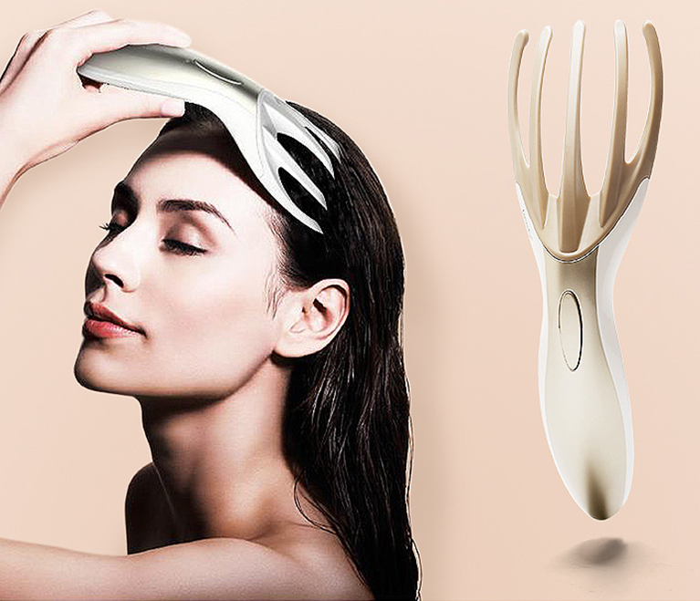 Head Massager comb Electronic Soft Resin Finger Gripper Claw Head Spa Vibration Scalp Massage Tool S