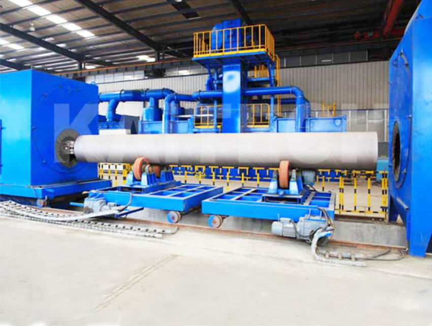 Wire Mesh Belt Shot Blasting Machine
