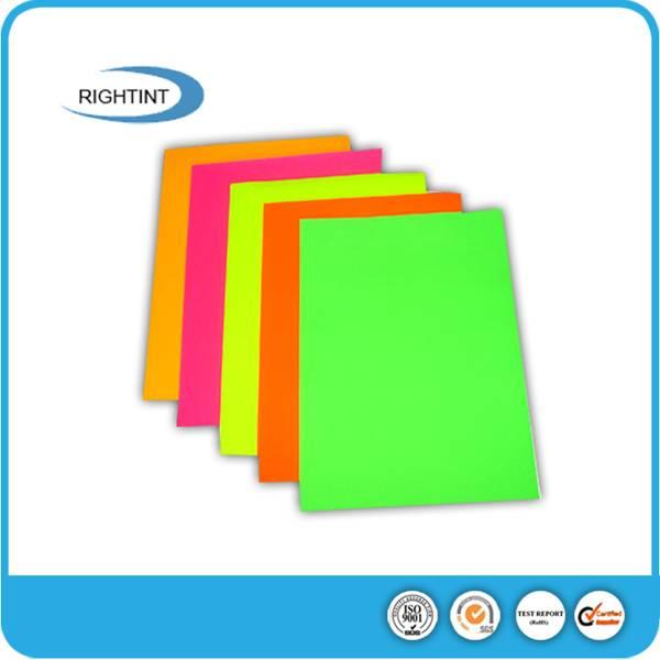 Self adhesive fluorescent adhesive paper sticker