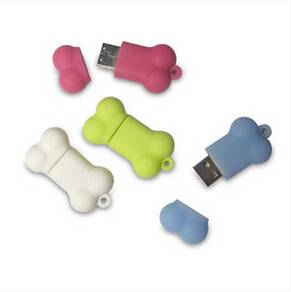 Hot sell item USB Bone design PVC USB flash drive
