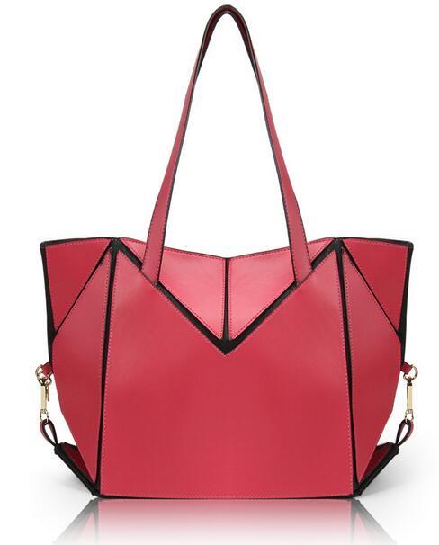 Alibaba wholesale fashion design PU leather foldable lady handbag foldable tote shopping bag