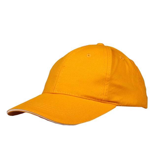 Yellow Cotton Sports Caps Baseball Hat