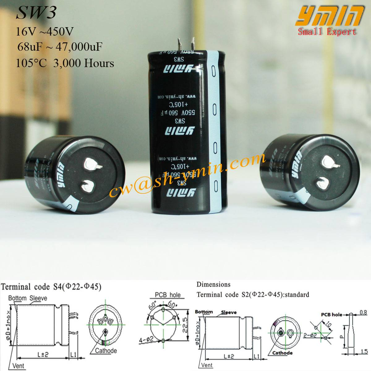Low Impedance Capacitor Snap in Electrolytic Capacitor for Battery Car Charging Post Battery Vehicle
