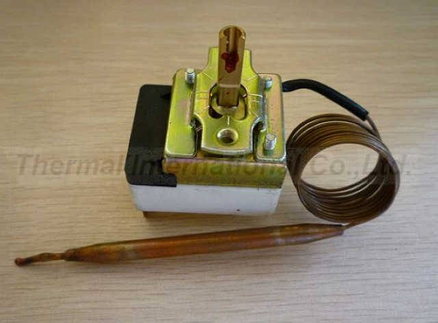Capillary thermostat for oven part