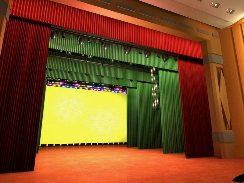 Fire Retardant Fabrics, Stage Curtains
