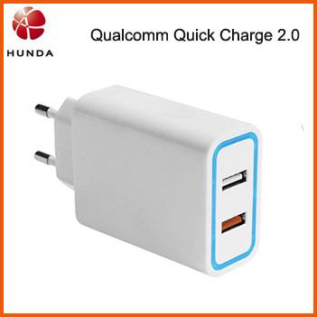 Qualcomm Certified 2 USB EU UK Plug AC Adapter QC2.0 for Moto X Tablet