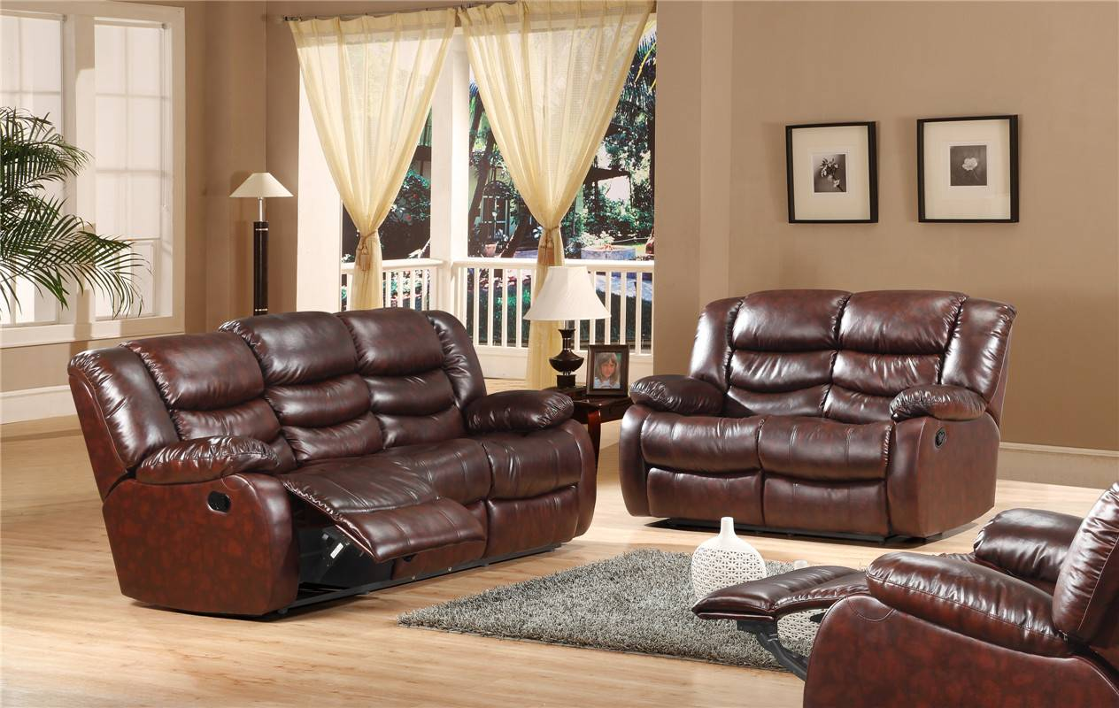 Modern Leather Recliner Sofa Zhen Xiang Yuan Furniture