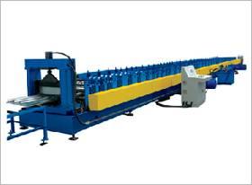 Floor bearing plate forming machine