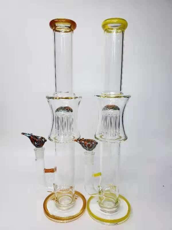 Glass Water Hookah Straight Tube Percolator Smoking Pipe