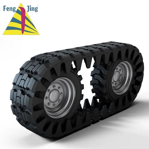 Mini skid steer loader OTT rubber track