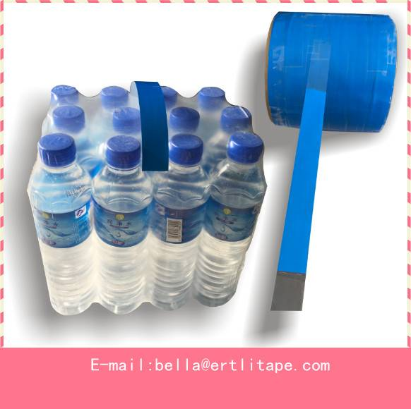 adhesive handle tape in a roll for mineral water