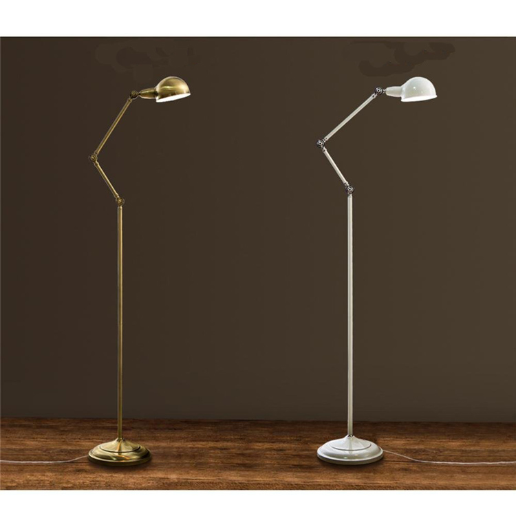 Modern Floor Lamp elegant metal lighting sand nickel finished