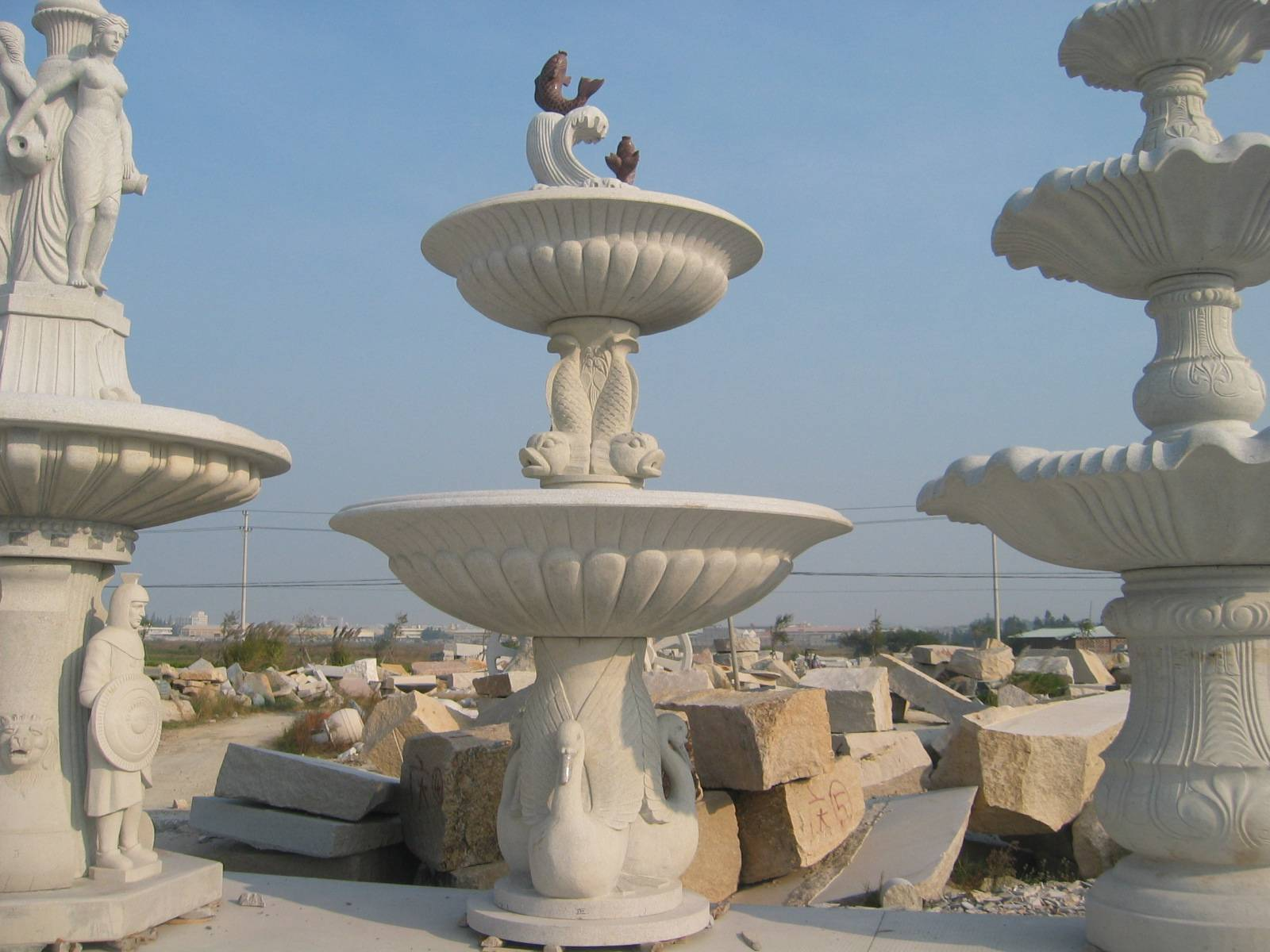 Outdoor Stone Water Fountain for sale