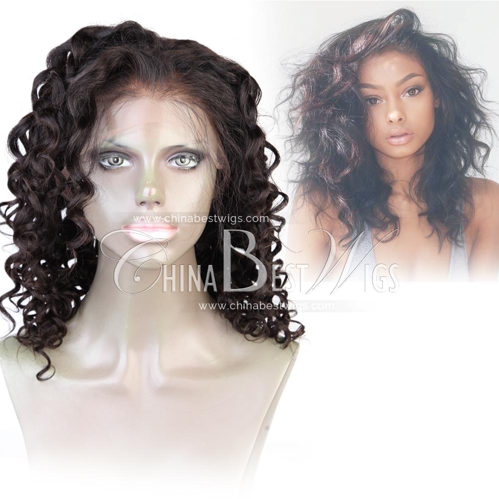 big wavy lace front human hair wig