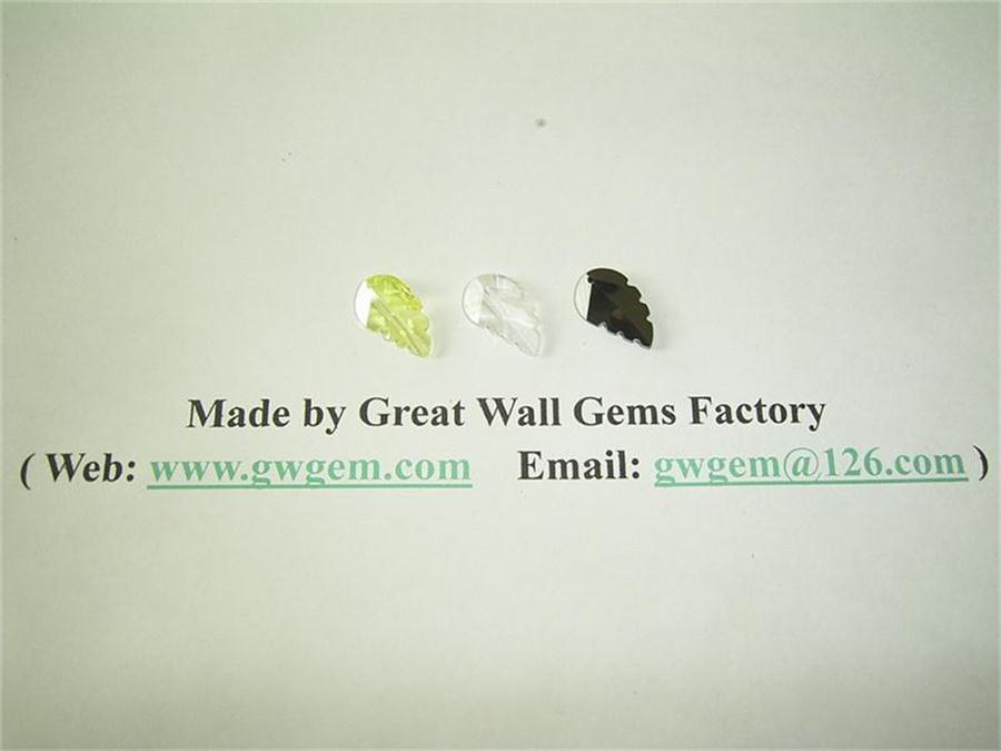 12x20mm cubic zirconia (CZ) maple leaf