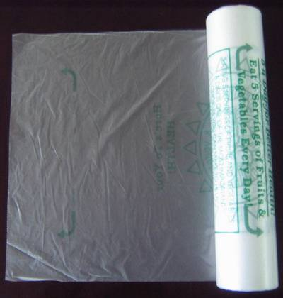 HDPE transparent Plastic Roll pack food bag/Vegetable & fruit bag