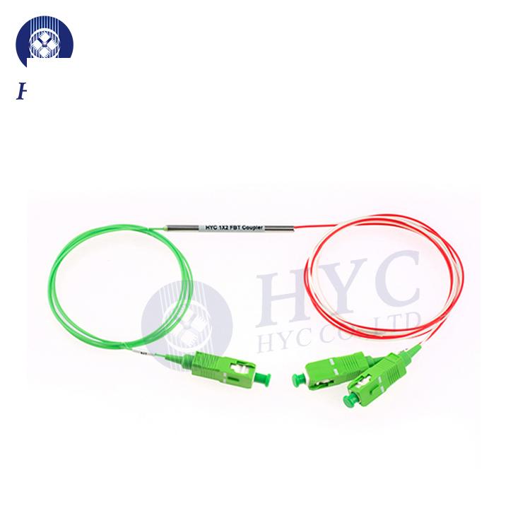 1x2/2x2 SM FBT Splitter Fused Biconical Taper Coupler Fiber Opitcal Splitter For FTTH