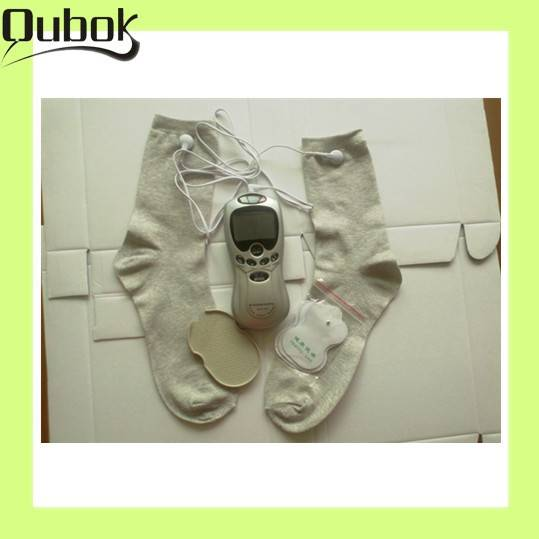 2013 latest digital therapy impulse tens massager with socks