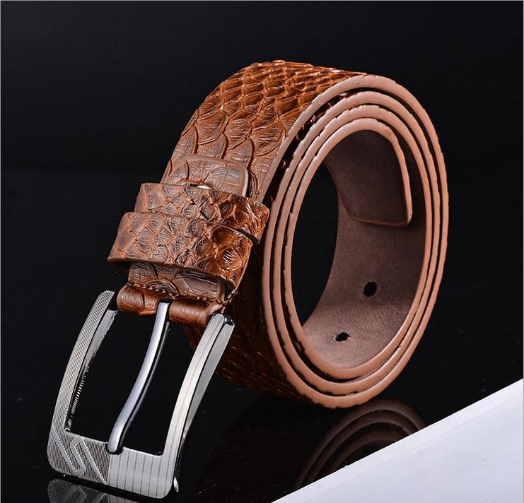 Pin buckle belts with Python lines(C-7)