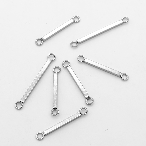 500pcs stainless steel rectangle connector jewelry components