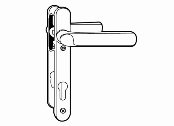 casement door handle set