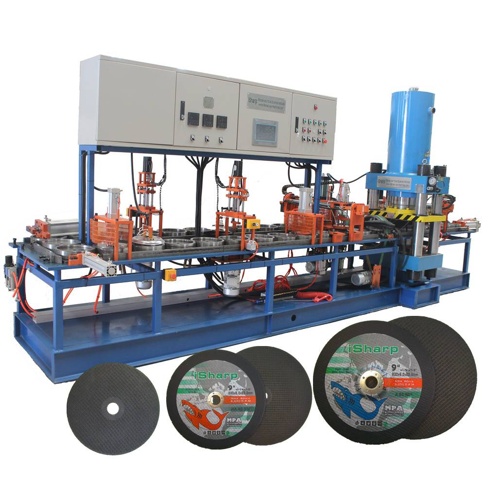Grinding wheel making machine