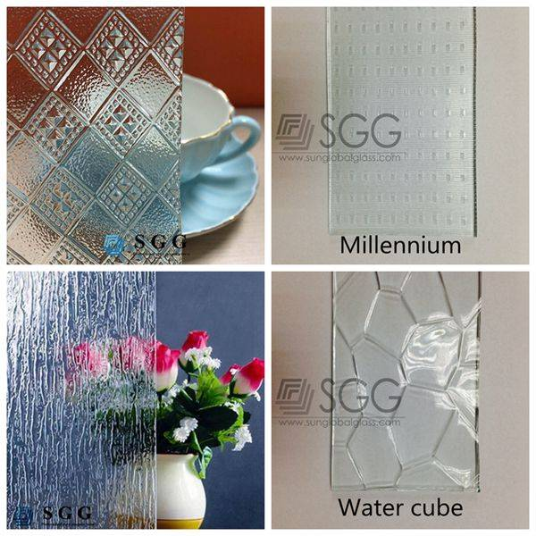 4mm 5mm 6mm Rainbow Silicia Water Cube Winner Clear patterned glass