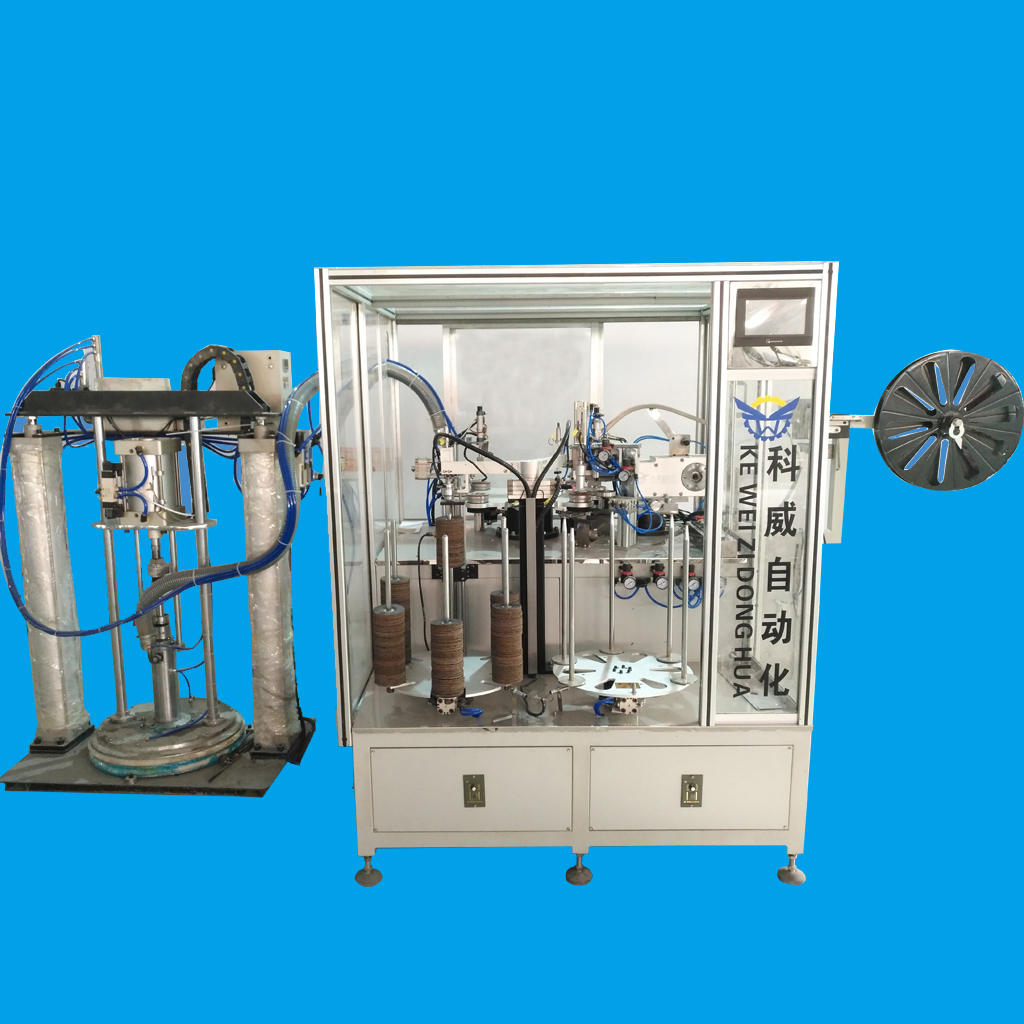 KAWAY KWQ-125/180 full automatic/semi-automatic flap disc forming machine