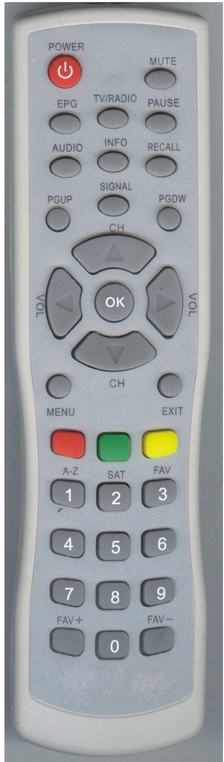 Good look satellite TV box remote control YN-2435