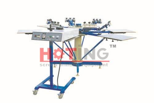 Manual carousel screen printing machine