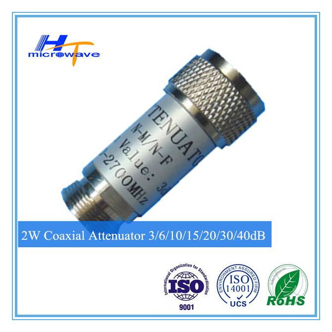 RF Passive component DC-3G Fixed Coaxial attenuator 2W N-M/N-F n type