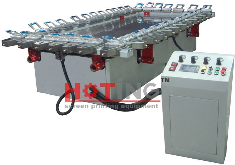 Automatic screen stretching machine