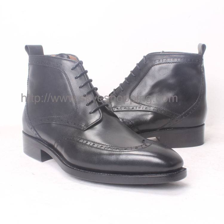 Lace Up Business Ankle Men's Boots In Goodyear Craft