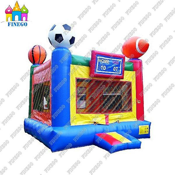 Inflatable Sports Ball Games Combo Jumping Castle