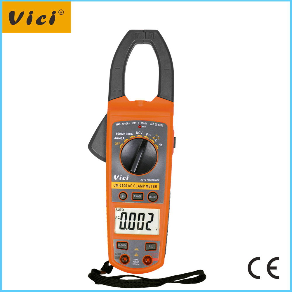 CM-2100 AC Clamp meter with NCV and clamp light and backlight display