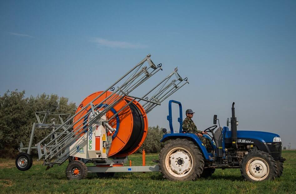 Aquajet hose-reel irrigators