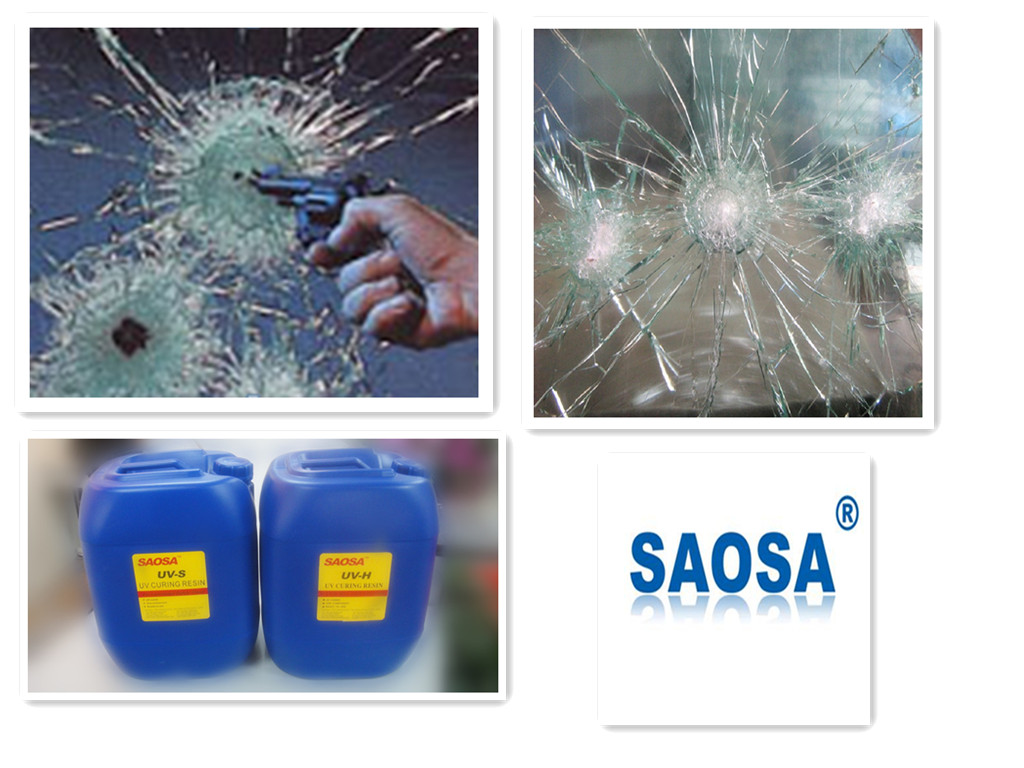 SAOSA UV curing resin for bullet resistance laminated glass