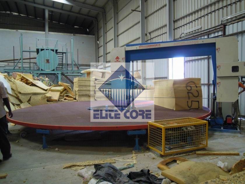 ECMT-108  Carousel foam cutting machine