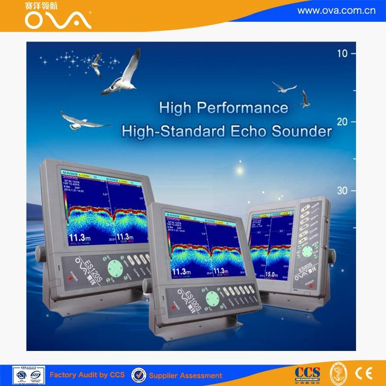 12 inch water depth echo sounder