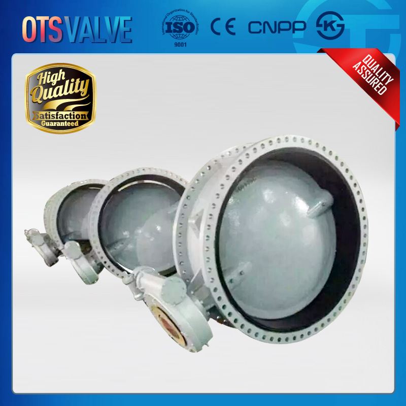 DN1200 ductile iron flange type butterfly valve