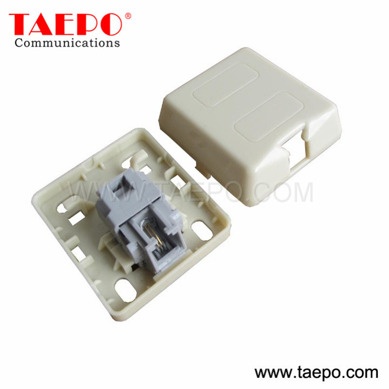 CAT3 2P2C jelly filled 1-port RJ11 telephone socket