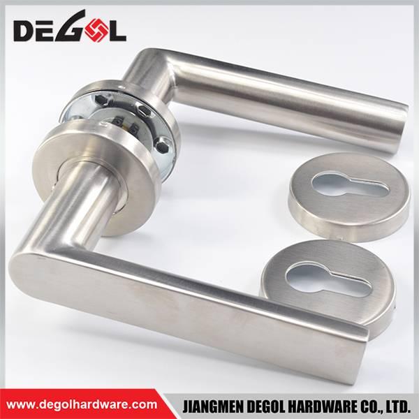 Top quality solid type stainless steel glass shower door handle